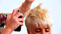 This website has a lot of video tutorials about how to style short pixie hair