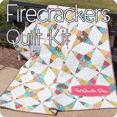 Firecrackers Quilt Kit <br/>Featuring Prairie By Corey Yoder For Moda Fabrics