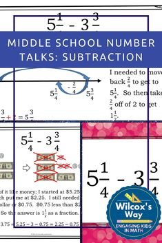 Number talks in middle school are a great way to develop number sense and increase student engagement in the math classroom.  This product provides what you need for number talks including visual models such as number lines to represent common strategies your students might use.  #middleschoolmath  #numbertalks  #numbersense  #wilcoxsway Middle School Classroom, Math Classroom, Math Properties, Number Talks, Number Lines, Order Of Operations, Secondary Math, 8th Grade Math, Cooperative Learning