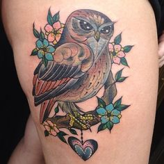 Amy Victoria Savage owl tattoo