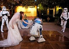 Crash this geeky, Star Wars-themed, nerdstravaganza wedding at the Jim Henson Studios