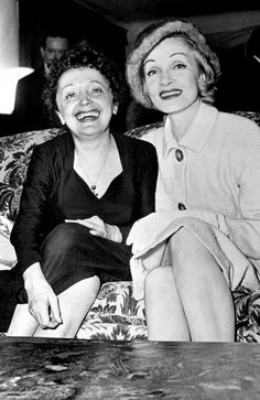 Edith Piaf and Marlène Dietrich Paris 1961 Hugues Vassal