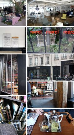 Merci concept store Boulevard Beaumarchais in Paris. Merci Paris, French Bistro, Charity Shop, Public Spaces, Apartment Ideas, To Go, Retail, Concept, Store