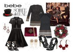 """""""Christmas Party with Bebe Fashion"""" by gabriele-bernhard ❤ liked on Polyvore featuring Bebe, St. Nicholas Square, bebe, Christmas2015 and pvstyleinsider"""
