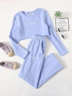 Cute Lazy Outfits, Teen Girl Outfits, Crop Top Outfits, Girls Fashion Clothes, Teen Fashion Outfits, Girly Outfits, Cute Fashion, Pretty Outfits, Stylish Outfits