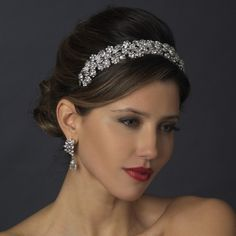 Stunning rhinestone floral vine flexible #bridal #tiara headband. Free Shipping! #wedding #weddingplanning #bridalaccessories #bridaljewelry