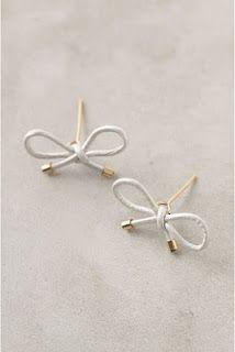 DIY bow earrings