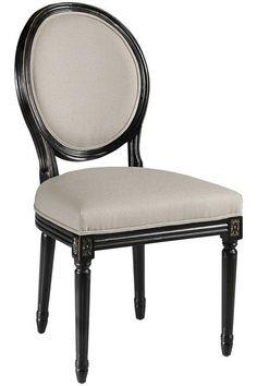 chaise m daillon en velours bleu et bois noir louis maisons du monde d co pinterest. Black Bedroom Furniture Sets. Home Design Ideas