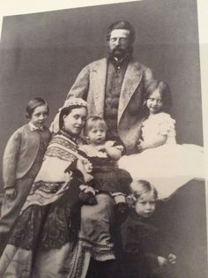 Fritz and Vicky, crown Prince and Princess of Prussia in 1865 with their children (L to R) Prince Wilhelm, Prince Sigismund(baby) Prince Heinrich and Princess Charlotte.
