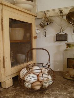 Sweet Country Life ~ wire egg basket