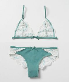 Cyan & Chantilly Bralette and panties from Anthropologie :) (I am going to be in so much trouble for posting this).