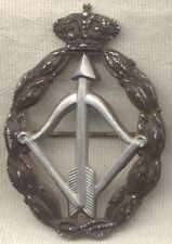 WWII Italian Air Force Silver Interceptor Qualification Badge by Bomisa