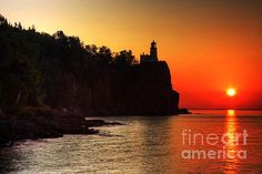 Split Rock Lighthouse - Sunrise  Prints available from $17  #FineArt #Architecture #Landscape #Photography #InteriorDesign #CityScape #Office #Home  #Inspiration #Nature