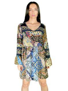 BSB Έθνικ αμπίρ φόρεμα με V, τρουακάρ