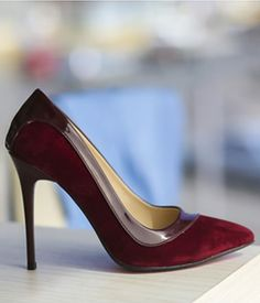 Pantofi stiletto bordo piele intoarsa si piele lacuita ieftini Stiletto Heels, Pumps, Casual, Shoes, Fashion, Moda, Zapatos, Shoes Outlet, Fashion Styles