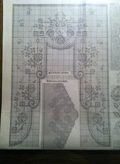 Filet Crochet Charts, Crochet Borders, Crochet Lace, Crochet Hooks, Crochet Curtains, Crochet Tablecloth, Knitting Patterns, Crochet Patterns, Cross Stitch Bookmarks