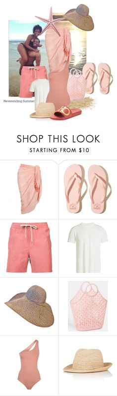 """""""Neverending Summer"""" by the-house-of-kasin ❤ liked on Polyvore featuring Accessorize, Hollister Co., ONIA, Rick Owens, Melissa Odabash, Kaminski XY, Salvatore Ferragamo, Summer and summertime"""