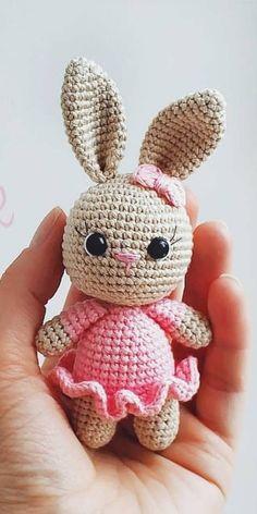 - Amigurumi Sweet Bunny Free Crochet Pattern – Free Amigurumi Patterns Crochet Pattern Free, Easter Bunny Crochet Pattern, Crochet Animal Patterns, Stuffed Animal Patterns, Crochet Patterns Amigurumi, Cute Crochet, Crochet Crafts, Crochet Projects, Amigurumi Toys