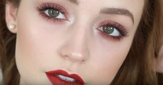 Warm Red | Easy Eye Makeup For Green Eyes | Makeup Tutorials Guide