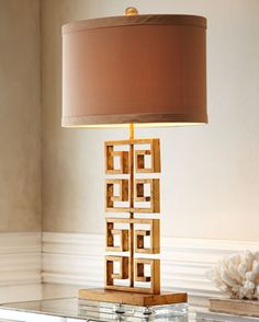 Horchow greek key lamp | More here: http://mylusciouslife.com/shop-this-look-elegant-master-bedroom/