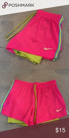 NWOT. Nike Pro Shorts I bought these and removed the tags but never wore them. They are super cute, I wore my black pair all the time!!! NWOT. Nike Shorts
