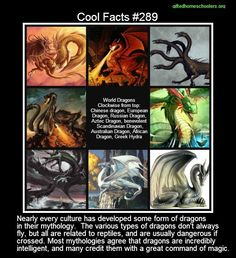 Cool facts #289 - Special dragon edition for my son's birthday  http://en.wikipedia.org/wiki/Dragon