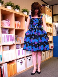 Tasia Sewaholic's floral Colette Patterns Hazel dress - she has modified by making the skirt wider, and I plan to teach this in my sewing class.