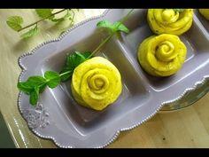 黃金玫瑰花饅頭-水煎法 南瓜饅頭 慢磨機實驗 全食物  烹飪教學