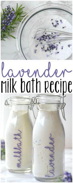 DIY Lavender Milk Bath Recipe - munchkinsandmilitary.com