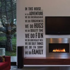 In This House Custom Personalized Wall Decal Vinyl by Stickitthere, $45.00