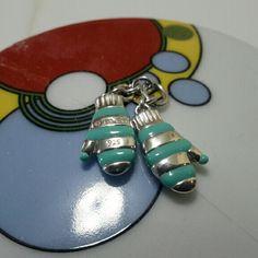 Tiffany sterling silver &Blue Enamel Mittens charm Tiffany&co sterling silver 925 & Blue Enamel Mittens charm Tiffany & Co. Jewelry