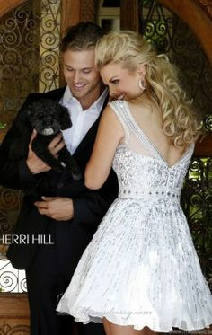 Sequined Cocktail Dress by Sherri Hill 8518