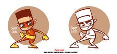 #characterdesign #cartoon #superlapiz #colors #illustration   Diseño de personajes en proceso