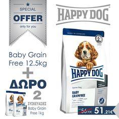 Babby Grain Free 12.5kg + ΔΩΡΟ 2 συκευασίες του 1kg
