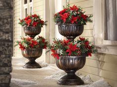 tiered garden urn topiary planter flower pot plastic 24 h yard rh pinterest com decorative outdoor pots for plants decorative outdoor planters and decorations