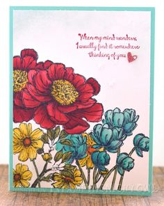 SUO - Bloom with Hope and Blendabilities by 1stampingnightowl - Cards and Paper Crafts at Splitcoaststampers