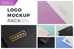 Logo Mockup Pack. Paper Edition  @creativework247