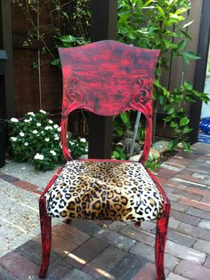 Punk Rock Chair by BohoUpcycle on Etsy, $100.00