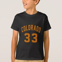 #Colorado 33 Birthday Designs T-Shirt - #giftidea #gift #present #idea #number #33 #thirty-third #thirty #thirtythird #bday #birthday #33rdbirthday #party #anniversary #33rd