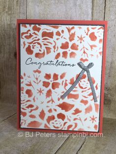 You have to check out the Floral Boutique Product Suite from Stampin' Up!  So many gorgeous coordinating products - just look at the detail and beauty of this card!