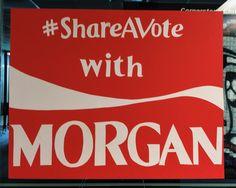 #shareavote Coca Cola student council poster campaign