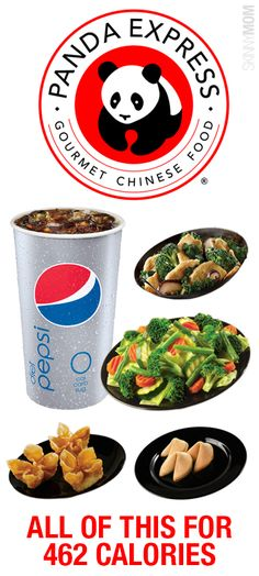 Fast Food Under Panda Express In the mood for Chinese takeout but don't want all of the calories? Check out this menu for dinner all under 500 calories! Healthy Fast Food Options, Fast Healthy Meals, Healthy Salads, Healthy Choices, Healthy Recipes, Fast Foods, Healthy Foods, 500 Calorie Meals, Meals Under 500 Calories