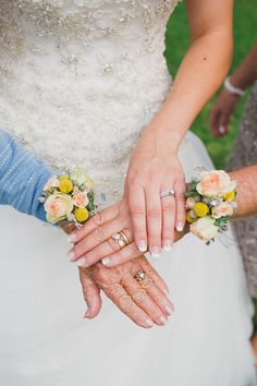 Wedding photo idea - three generations of rings {Coto Valley Country Club}