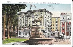 Waterbury Connecticut, Fountain, Calendar, Mansions, House Styles, Building, Travel, Art, Art Background