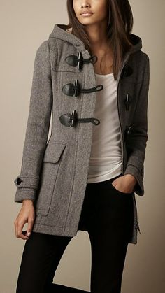 Burberry Slim Fit Toggle Coat, clothes like this make me want to go somewhere cold...but then i remember i hate winters
