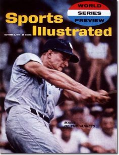 October 2, 1961 - The 1961 World Series.  Roger Maris, New York Yankees.