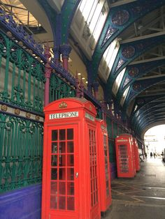 Old phone boxes in Smithfield Market