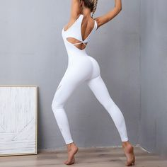 Bodycon Jumpsuit, White Jumpsuit, Blue Jumpsuits, Jumpsuits For Women, Style Sportif, Yoga, Fit Women, Sexy, Fitness