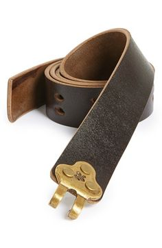 Men/'s Black Leather Belt With Brushed Pewter Tone Buckle