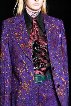 Love these vibrant colours. A suit I would definitely wear - even the trousers :) Miu Miu F/W 2012